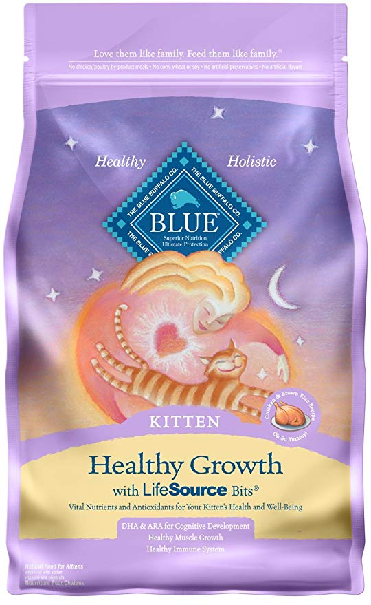 Blue Buffalo kitten is a great dry food for your new kitten.